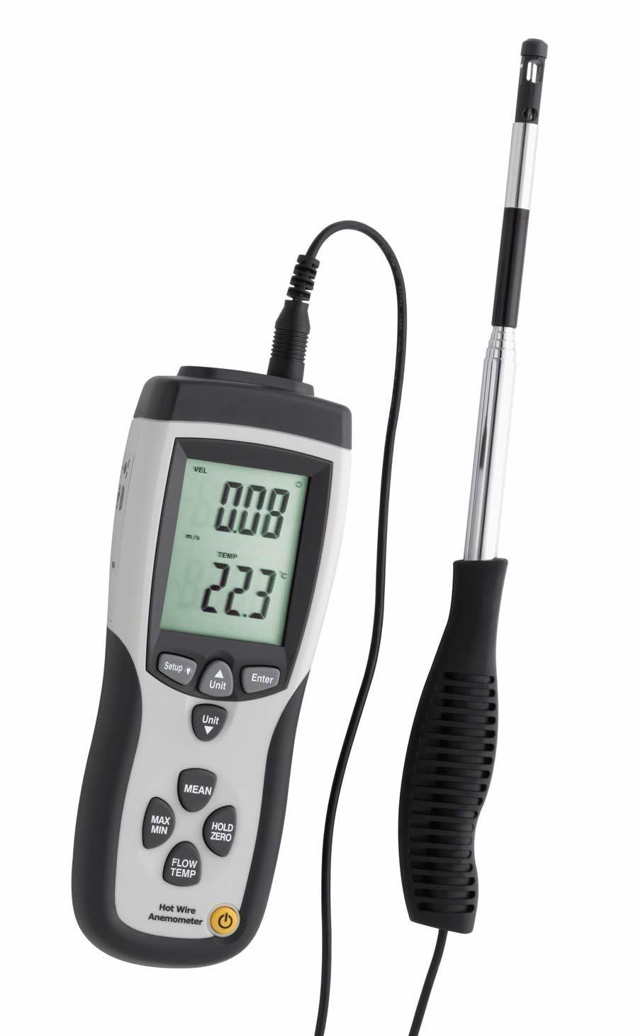Leak detector, manometer, anemometer, thermometer, IR thermo ...