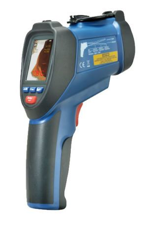 8-14 µm documenting portable infrared thermometer with camera imaging